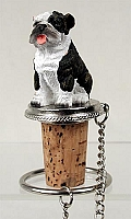 Bulldog Brindle Bottle Stopper