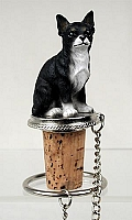 Chihuahua Black & White Bottle Stopper