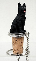German Shepherd Black Bottle Stopper
