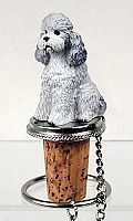 Poodle Gray w/Sport Cut Bottle Stopper