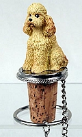 Poodle Apricot w/Sport Cut Bottle Stopper