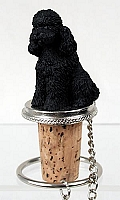 Poodle Black w/Sport Cut Bottle Stopper