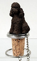 Poodle Chocolate w/Sport Cut Bottle Stopper