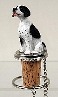 Pointer Black & White Bottle Stopper