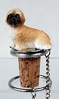 Lhasa Apso Brown w/Sport Cut Bottle Stopper