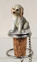 Labradoodle Cream Bottle Stopper