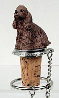 Cocker Spaniel Brown Bottle Stopper