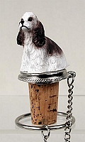 Cocker Spaniel Brown & White Bottle Stopper