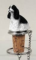 Cocker Spaniel Black & White Bottle Stopper