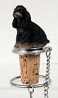 Cocker Spaniel Black & Tan Bottle Stopper