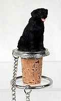 Labrador Retriever Black Bottle Stopper