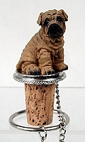 Shar Pei Brown Bottle Stopper