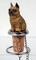 Brussels Griffon Red Bottle Stopper