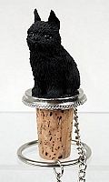Brussels Griffon Black Bottle Stopper
