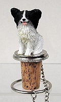 Papillon Black & White Bottle Stopper