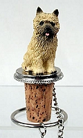 Cairn Terrier Red Bottle Stopper