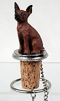 Miniature Pinscher Red & Brown Bottle Stopper