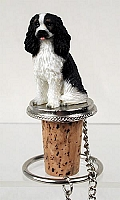Cavalier King Charles Spaniel Black & White Bottle Stopper