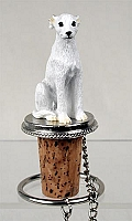 Whippet White Bottle Stopper