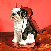 Bulldog Brindle Devilish Pet Figurine