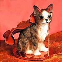Chihuahua Brindle & White Devilish Pet Figurine