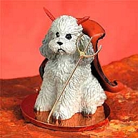 Poodle Gray w/Sport Cut Devilish Pet Figurine