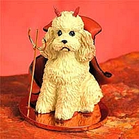 Poodle Apricot w/Sport Cut Devilish Pet Figurine