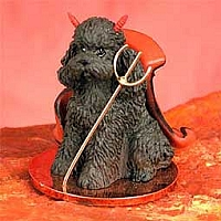 Poodle Chocolate w/Sport Cut Devilish Pet Figurine