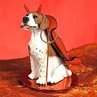 Pointer Brown & White Devilish Pet Figurine