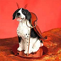 Pointer Black & White Devilish Pet Figurine