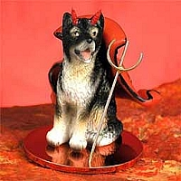 Alaskan Malamute Devilish Pet Figurine