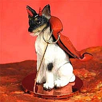 Rat Terrier Devilish Pet Figurine