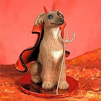 Italian Greyhound Devilish Pet Figurine
