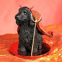 Cocker Spaniel English Black Devilish Pet Figurine