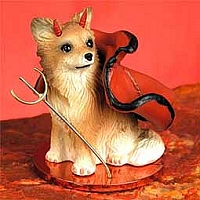 Chihuahua Longhaired Devilish Pet Figurine
