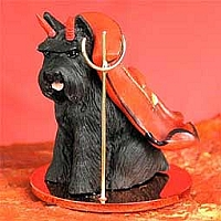 Schnauzer Black Devilish Pet Figurine