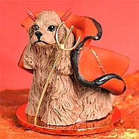 Cocker Spaniel Brown Devilish Pet Figurine