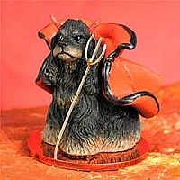 Cocker Spaniel Black & Tan Devilish Pet Figurine