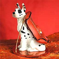 Great Dane Harlequin Devilish Pet Figurine