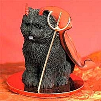 Chow Black Devilish Pet Figurine
