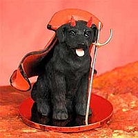 Labrador Retriever Black Devilish Pet Figurine