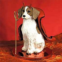 Brittany Brown & White Spaniel Devilish Pet Figurine
