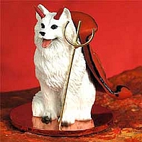 Samoyed Devilish Pet Figurine