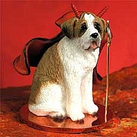 Saint Bernard w/Smooth Coat Devilish Pet Figurine