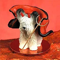 Skye Terrier Devilish Pet Figurine