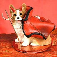 Welsh Corgi Pembroke Devilish Pet Figurine