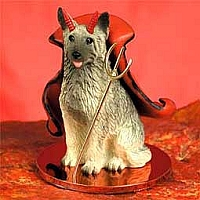 Norwegian Elkhound Devilish Pet Figurine