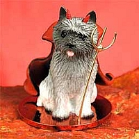 Cairn Terrier Gray Devilish Pet Figurine