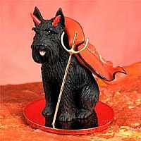 Schnauzer Giant Black Devilish Pet Figurine