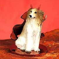 Borzoi Devilish Pet Figurine